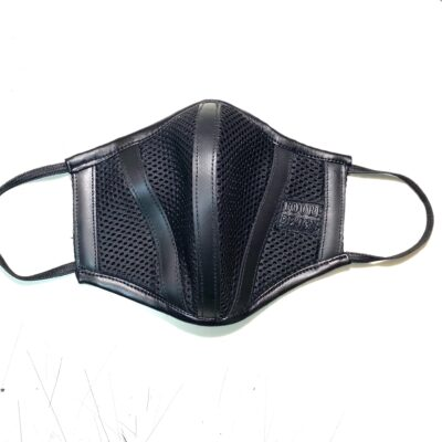 Leather Mesh Face Mask