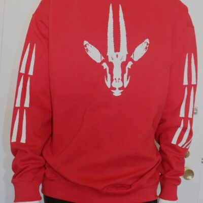 Red Gazelle Print Sweatshirt